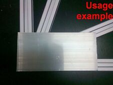 Aluminum T-slot profile blank flat join plate support 60x4mm L120mm, 4-set