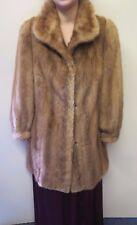 Vintage Genuine Mid Brown European Mink Fur long coat L UK 18 Euro 46