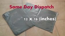 50 x STRONG LARGE GREY POSTAL MAILING BAGS 12x16
