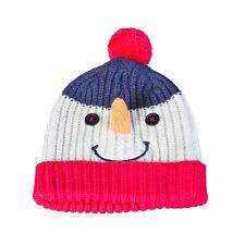Le noël atelier unisexe 3D bonhomme de neige visage noël bonnet-taille unique