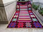 Vintage Handmade Azilal Moroccan Berber Rug Beni Ourain Tribal Carpet