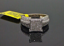 10K Ladies Yellow Gold 0.30CT Diamond Pave Ring #Engagement, Wedding Band