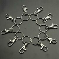 5/10/20pcs Silver Charm Swivel Clip Lobster ClaspsHook Ring~set Trigger Key Y9S0