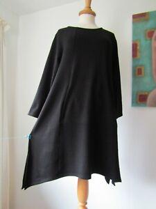 Masai Black Pointy Asymmetric Hemline Arty Lagenlook Tunic Dress XL