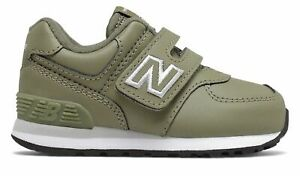 New Balance Infant 574 Hook and Loop Shoes Green with Grey