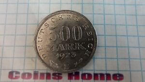 Coins Home 1923 E Weimar Germany 500 mark lot#NAZ37 Uncertified Ungraded
