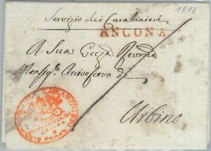 82338 - REGNO - Storia Postale: BUSTA PREFILATELICA da ANCONA 1818 - CARABINIERI