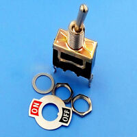 Heavy Duty ON/OFF Small SPST Toggle Switch Miniature + Waterproof Cover DC 12V
