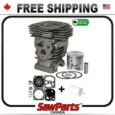 HUSQVARNA 450, 450e CYLINDER PISTON 44mm *HQ* +carb kit+fuel filter for CHAINSAW