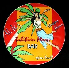 Salad/Dessert Plate TAHITIAN MOON BAR Godinger PIN-UP GIRL 7-1/2 inch Red