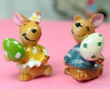 Hand Painted Easter Bunnies - Set of 4
