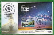 URUGUAY-2015-Año Intern. de la Luz-60 Años Planetario de Montevideo-FDC