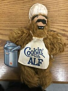 "Vintage 1988 Burger King Toy ALF Alien Plush ""COOKIN' with ALF"" Hand Puppet"