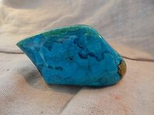 "Royston, Nevada Mine Raw Turquoise 463 g 4"" x 3"" Ribbon with Vein"