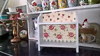SHABBY CHIC WOODEN DISPLAY SHELF UNIT WALL STANDING MADE WITH EMMA BRIDGEWATER
