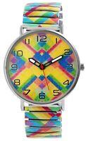 Donna Kelly Damenuhr Zugbanduhr Muster Grafik Analog Zugband Quarz X1700048014