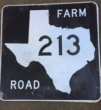 Old Authentic Retired TEXAS 213 SIGN Highway Oil Gas (24X24) Lone Star