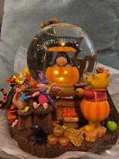 More details for disney store winnie the pooh eeyore halloween musical snowglobe.