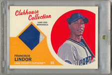2012 Topps Heritage Minors Clubhouse FRANCISCO LINDOR Game Used RC Patch /15 SSP
