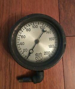Vtg ASHCROFT MFG CO New York pressure gauge steam punk
