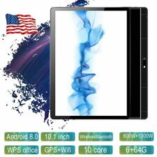 """For Android 8.0 10"""" HD Game Tablet Computer PC GPS Wifi W/ Dual Camera BT4.0"""