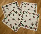 Set 4 vintage 17' square Franciscan Apple linen napkins probably unused