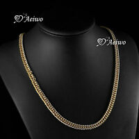 18K YELLOW GOLD GF MIAMI CHAIN NECKLACE 60CM LONG