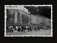 1940s BRITISH FORTRESS WOMEN STREET BOY CAR STALL Vintage Hong Kong Photo #784