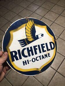 richfield oil sign Vintage Antique Porcelain