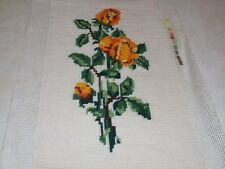 Completed Tapestry - Yellow Roses