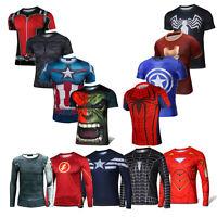 Maschi Batman Supereroi Deadpool Lunga/Maniche Maglietta ciclismo T-Shirt