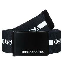 DC SHOES MENS BELT.NEW CHINOOK 2 BLACK WEBBING JEANS TROUSERS STRAP 8S 144 KVJO
