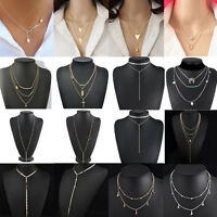 Fashion Charm Crystal Choker Chunky Statement Bib Necklace Jewelry Chain Pendant