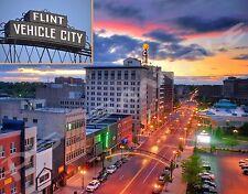 Michigan - FLINT - Travel Souvenir Flexible Fridge MAGNET