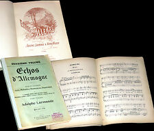 Echos d'Allemagne recueil 28 partitions chant piano airs duettinos mélodies 1885
