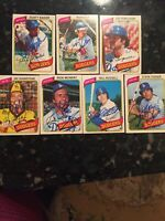 LOS ANGELES DODGERS VINTAGE 1980 O-Pee-Chee AUTOGRAPHED BASEBALL CARDS LOT (7)