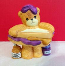 Lucy & Me Pb&J Peanut Butter And Jelly Teddy Bear Enesco Figurine