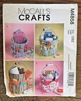 McCalls Crafts M4858 Baby Shower Gift Bucket Organizers Sewing Pattern UNCUT FF