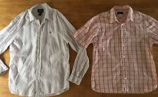 Mens Summer Shirt Set Ralph Lauren Fred Perry Linen Cotton Size L Short Sleeve