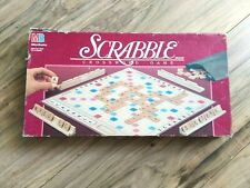Scrabble Crossword Board Game Vintage 1989 Milton Bradley Wooden Tiles Ages 8+