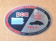 Porsche Club of America PCA 1963 8th Parade Grill Badge Split Rock Pocono Mtn PA