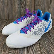Nike Mens Indoor Soccer Cleats Elastico Pro 2 Purple Cheetah Size 12 Athletic