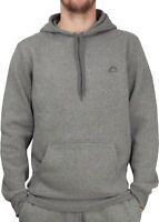 More Mile Vibe Mens Hoody Grey Brushed Fleece Hooded Sweatshirt Gym Run Training