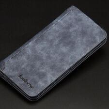 Leather Bifold Credit ID Card Holder Slim Wallet Purse Checkbook Clutch for Men