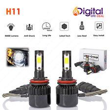 Cree LED Headlight Kit H11 Conversion Light Bulbs 40000LM 6000K White
