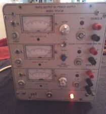 Power Designs Inc Tp343b Triple Output Regulated Dc Power Supply Tested Working