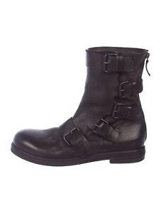 MARSÈLL Black Leather Mid-Calf Boots. Size 10 US/ 40 IT
