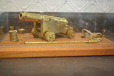 VALLEY CANNON WORKS MINIATURE BRASS NAVAL CANNON, MINT! Presentation Case