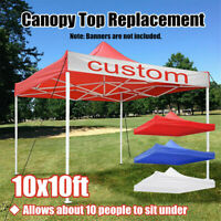 Canopy Top Replacement Outdoor Sunshade Tent Cover Pop Up For 10'x10' 10x10ft