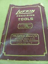 Vintage Lufkin Precision Tools Catalog no 7